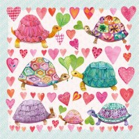 Servilletas cuadradas Turtles in Love PPD 33x33cm 20 unidades