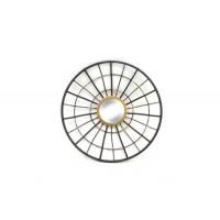 Espejo redondo marco metálico negro y dorado 38x6,5x38cm
