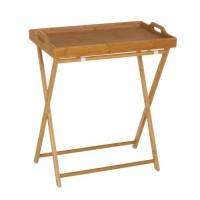 Bandeja madera bambú con pies soporte 35x55x61,50 cm