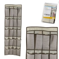 Zapatero para colgar textil 16 departamentos 44x135 cm