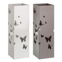 Paragüero metálico cuadrado mariposas 2 colores 15,50x49cm