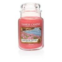 Vela perfumada en frasco cristal grande Garden by the Sea Yankee Candle