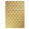 Alfombra algodón impreso estampada gris y mostaza 120x180 cm