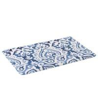 Alfombra baño microfibra estampada blanco y azul Flame 45x70 cm