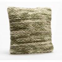 Cojín cuadrado con relleno hilos gordos tonos verdes Naturelle 40x40cm