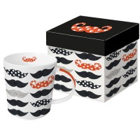 Mug decorado bigotes Les Moustaches PPD 35cl
