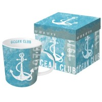 Mug decorado ancla Ocean Club PPD 35cl