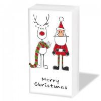 Pañuelos de papel decorados Navidad Rudi's Scarf Merry Christmas PPD