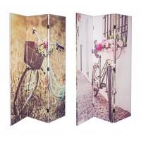 Biombo 3 paneles bicicleta 120x2,5x180 cm
