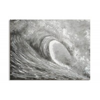 Lienzo cuadro Ola mar gris 120x90cm