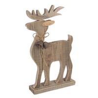 Figura navideña Reno mediano en madera 20x6x35h cm