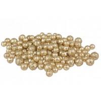 Esferas bolas foam doradas 3 tamaños diámetros 1,3 1,5 y 1,8cm 20gr
