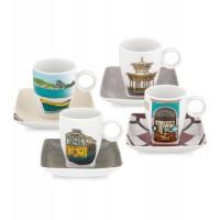 Set 4 Cups Coffee with Plate Alma Rio Janeiro