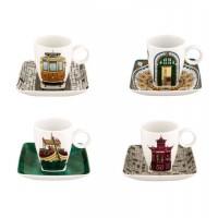 Set 4 Cups Coffee with Plate Alma do Porto