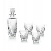 Ensemble de verre pour whisky ou liqueurs 5 pièces bouteille + 4 verres bas Olympos Vista Alegre