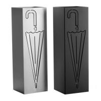 Paragüero metálico cuadrado paraguas plata o negro 15,50x49cm