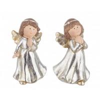 Figura navideña cerámica Angel Glory 2 opciones 7,4x6,1x12,5h cm