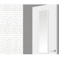 Espejo para puerta marco blanco cuadrados 35x125h cm