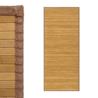 Alfombra tablillas bambú color natural 75x175cm