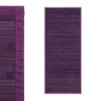 Alfombra tablillas bambú color violeta 75x175cm