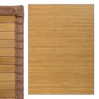 Alfombra tablillas bambú color natural 180x250cm