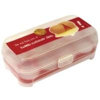 Huevera plástica para 8 huevos en 4 colores 20x11x7cm
