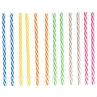 Paper straws pink with white dots