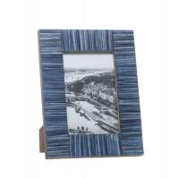 Marco de fotos hueso tablillas azules 10x15 cm