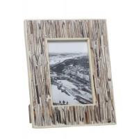 Marco de fotos hueso imitación tablas madera 10x15 cm