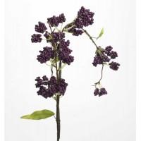 Flor artificial rama Callicarpa bolitas violetas 81h cm