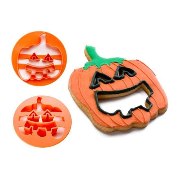 Cortador para galleta plástico con forma de calabaza Halloween 11cm