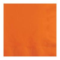 Servilletas de papel cuadradas color naranja liso 20 unidades 33x33cm