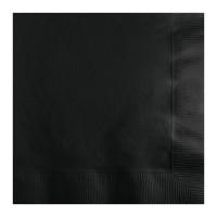 Servilletas de papel cuadradas color negro liso 20 unidades 33x33cm
