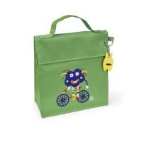 Bolsa isotérmica Kinder Bag snack rico Monstruos verde con asa