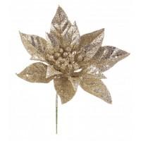 Flor artificial Ponsetia color champagne 14x18cm
