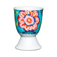 Soporte para huevo porcelana decorada Flores Bright Flower