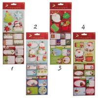 Pegatinas etiquetas adhesivas Navideñas para identificar regalos 42 unidades