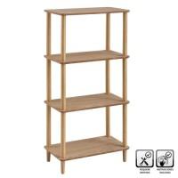 Estantería auxiliar 4 baldas madera y mdf natural 60x34x118h cm