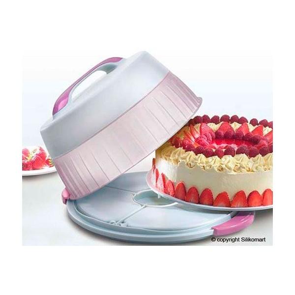 Porta tartas térmico redondo 32 cm Silikomart