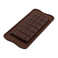 Molde silicona para hacer tableta de chocolate clásica Silikomart
