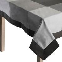 Mantel algodón cuadros grises 155x155 cm