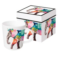 Mug decorado con elefante de colores Regalia Elephant PPD 35cl