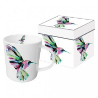 Mug decorado con colibrí colores Corfu Hummingbird PPD 35cl