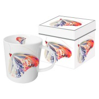 Mug decorado con mariposa colores Corfu Butterfly PPD 35cl