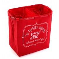 Cesto cubo doble para ropa rojo The Laundry Company 50x30xh52cm