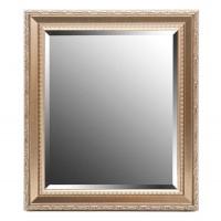 Espejo marco resina dorado relieve detalle clásico hojas 50x60cm