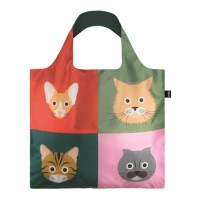 Bolsa plegable Stephen Cheetham Cats Loqi