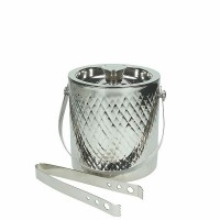 White double wall ice bucket with tweezers1,5 l Cool Bodum