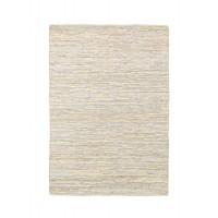Alfombra algodón y piel tonos grises entrelazada Helen 140x200 cm