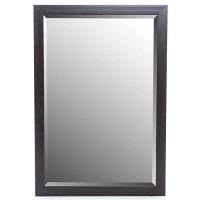 Espejo resina marco negro liso 60x90h cm ext. 69x99h cm